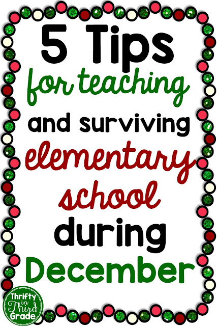 5 Tips to help you teach during the month of December! Think about various activities you can incorporate, Christmas and holiday games, decorations, and real life lessons and projects that you can bring into your classroom. This post will give you some ideas!