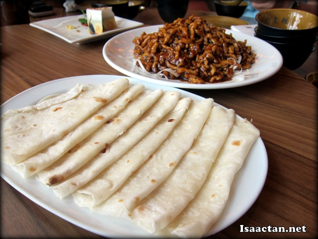 Sautéed Shredded Pork served with Chinese Flour Crepe - RM20