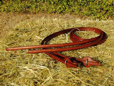 Redini pesate per monta western fatte a mano in cuoio marrone con portamorso quick change