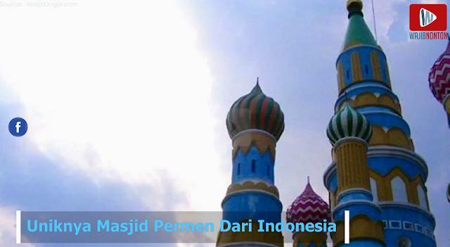 Kembali Ke Negeri Dongeng, Sungguh Luar Biasa! Masjid Permen Pertama Kali Di Dunia dari Indonesia