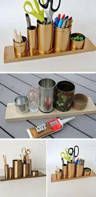 Manualidad para regalar hecha con latas