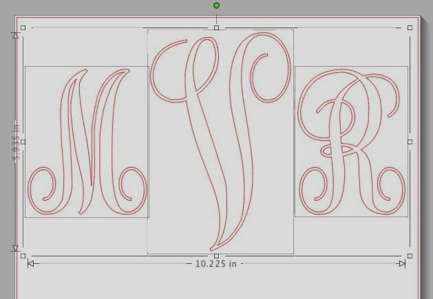 Vinyl, monogram, wall art, Silhouette tutorial, Silhouette Studio, ungroup