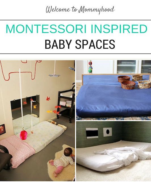 Montessori inspired baby spaces and tips by Welcome to Mommyhood #montessori, #montessoribaby