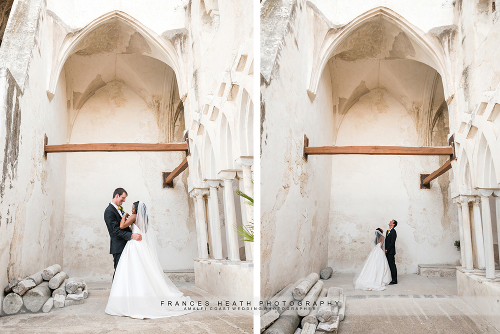 Bride and groom at NH Convento