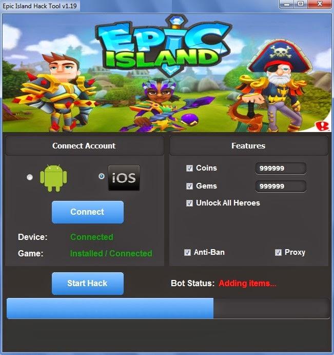 Epic Island Hack - HQ
