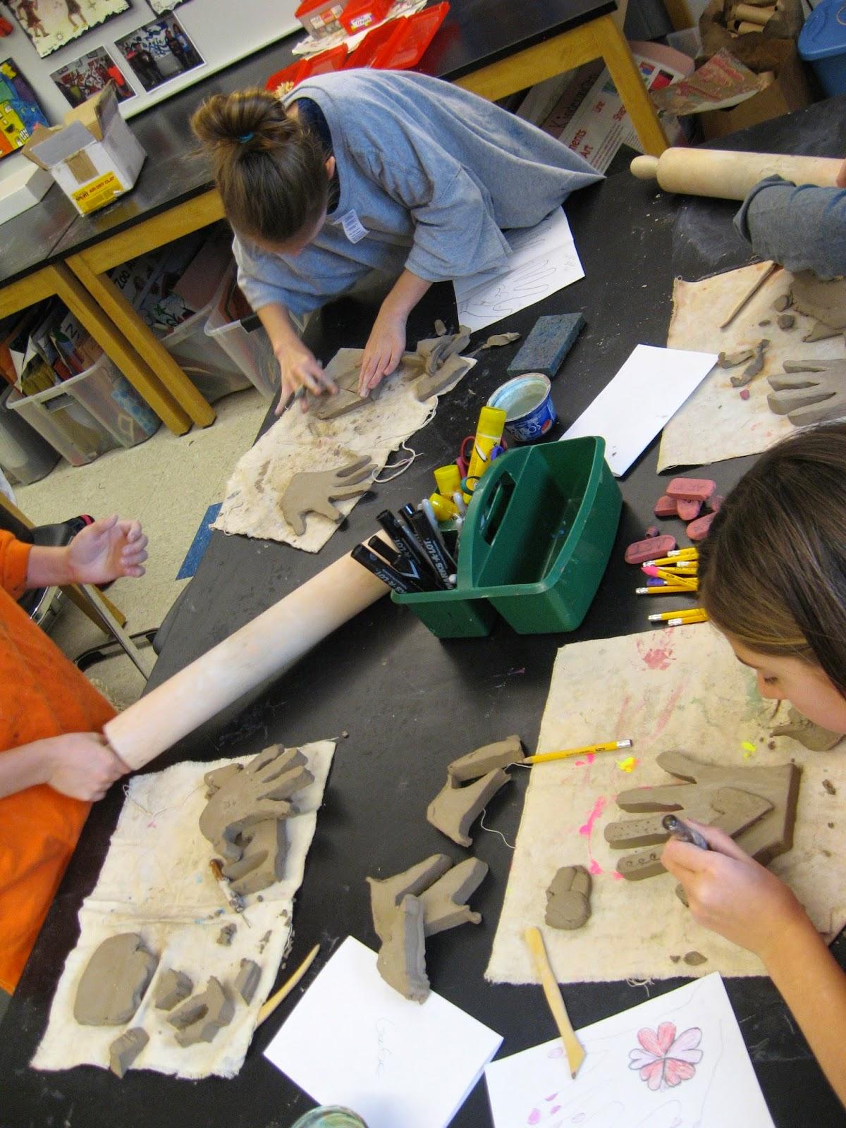 Jamestown Elementary Art Blog 5th Grade Jim Dine Clay Hands