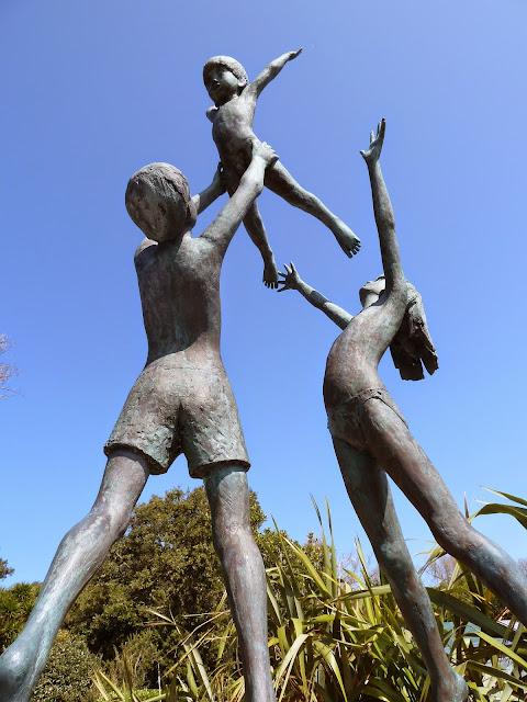 Tresco Children Sculpture Abbey Gardens