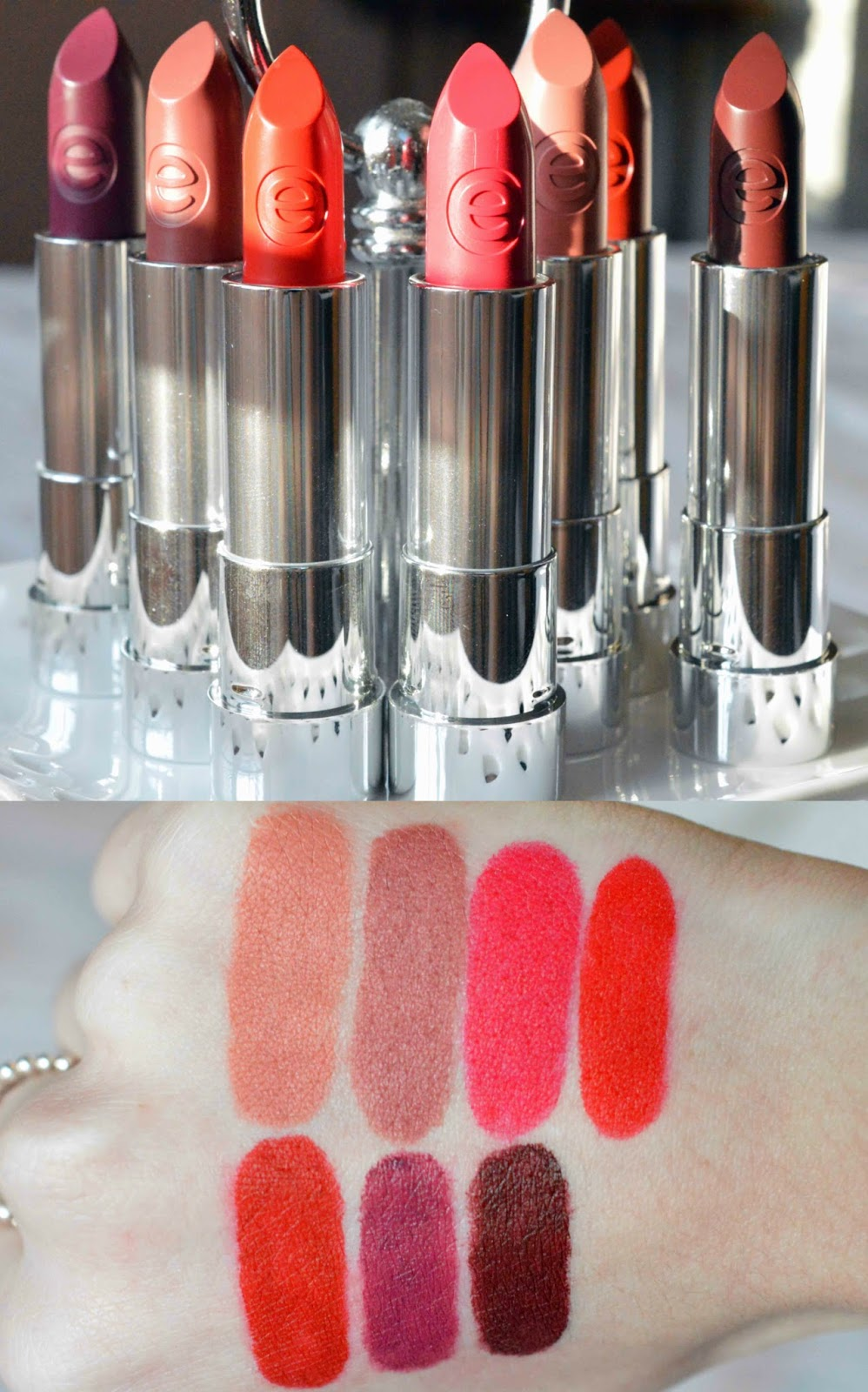 Essence Lipstick Swatches