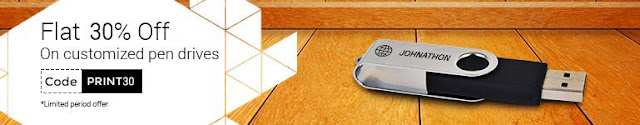 Printvenue  OfferGet 30% off on Branded HP Pen Drives with custom engraving