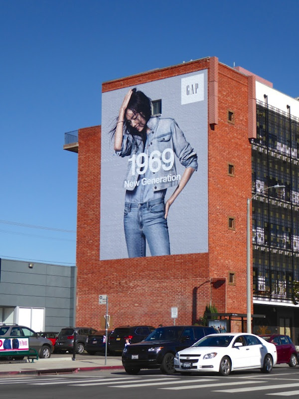 Gap 1969 New Generation denim billboard