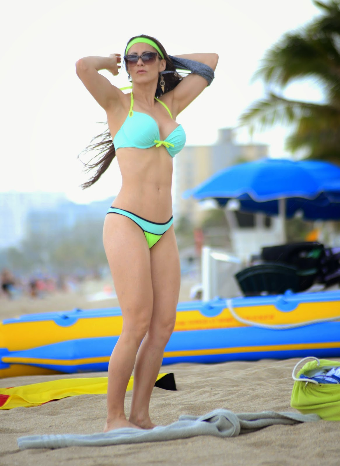Anais Zanotti's Hits The Beach In Her Bikini