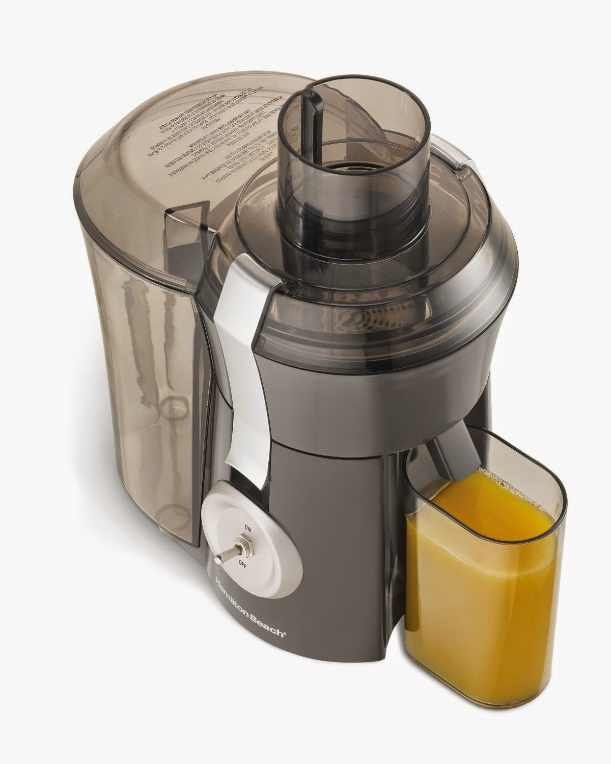 Hamilton Beach 67650A Big Mouth Pro Juice Extractor, low-price with features of a more expensive juicer, powerful 1.1 hp motor, stainless steel cutter/strainer, high juice yield, up to 24% more juice than its leading competitor
