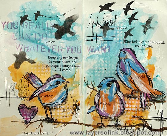 http://layersofink.blogspot.com/2014/06/bold-birds-art-journal-tutorial.html
