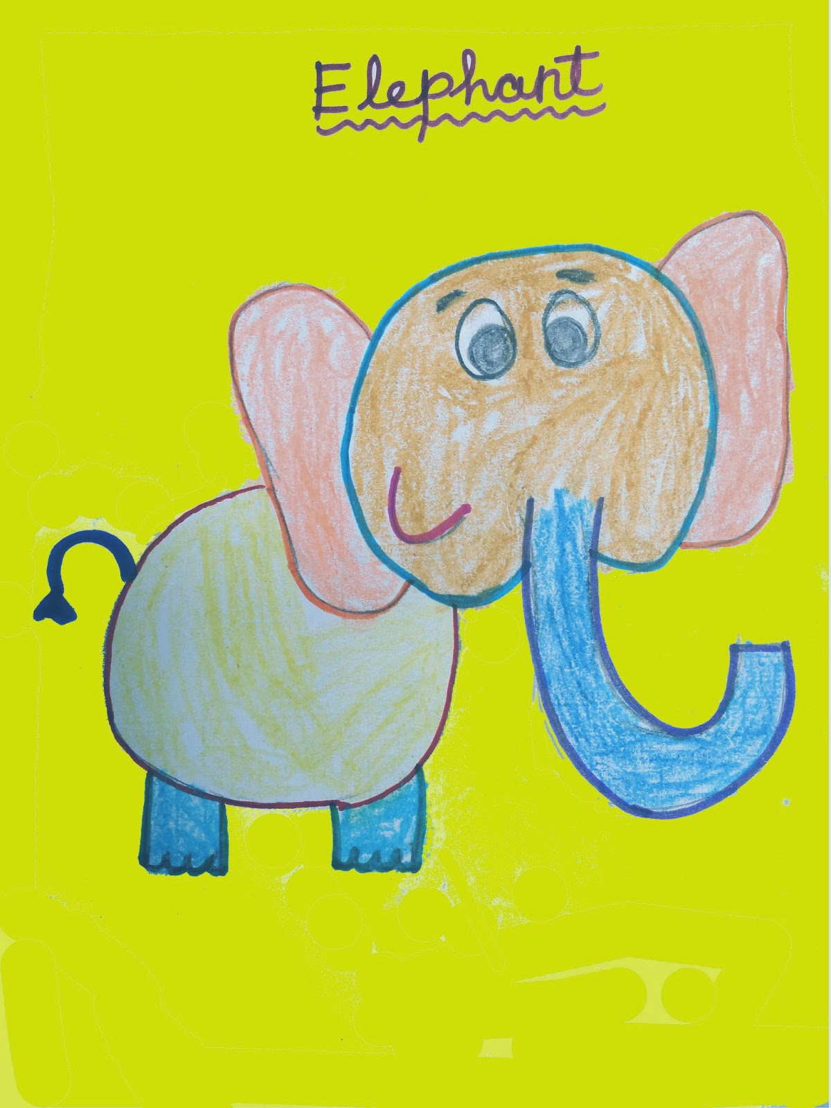 ELEPHANT DRAWING FOR KIDS