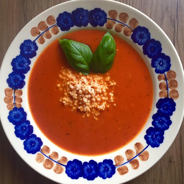 🍅 krem pomidorowy z kaszą jaglaną