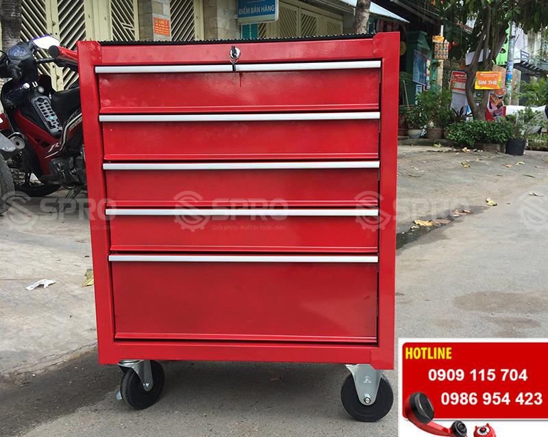 tủ kéo đựng dụng cụ đồ nghề, thiết bị sửa xe máy 5 ngăn