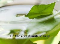 Le thé vert stimule le désir et  la santé sexuelle