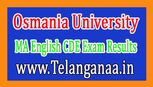 Osmania University OU MA English CDE Exam Results Download