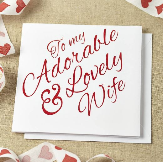 to my adorable loving wife