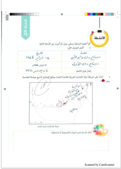 حل الدرس الاولي الوحدة 2 في الدراسات الاجتماعية للصف الخامس