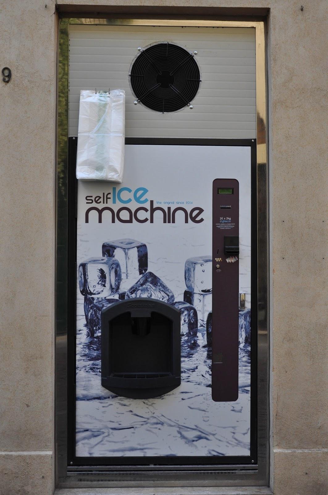 Ice-vending machine, Vicenza, Veneto, Italy
