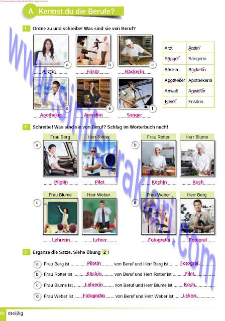 Almanca A1.2 Çıpa Yayınları Çalışma Kitabı Cevapları Sayfa 30