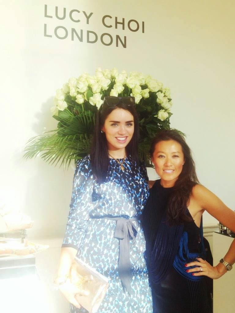 London fashion blogger Emma Louise Layla meeting shoe designer Lucy Choi and checking out her new collection at Somerset House