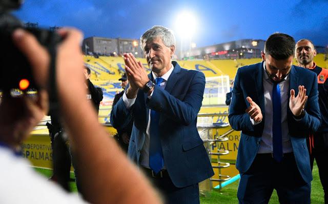 Último partido de Setién en el banquillo del Gran Canaria