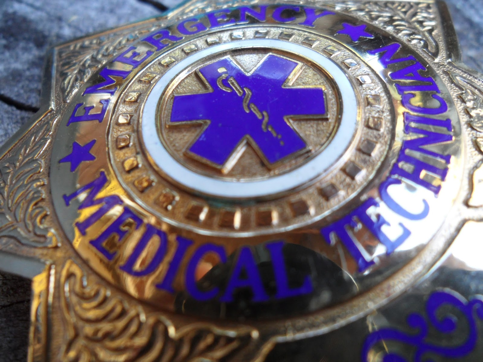 Four Bees: Emergency Medical Technician, EMT Badge, Sun ...