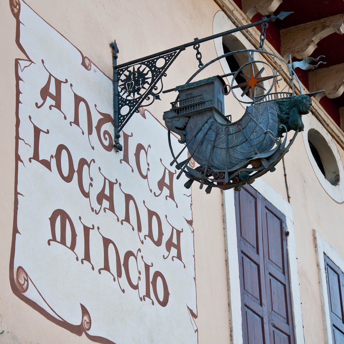 Restaurant sign, Borghetto, Veneto, Italy