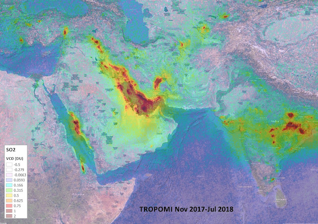 Copernicus Sentinel-5P reveals new atmospheric nasties