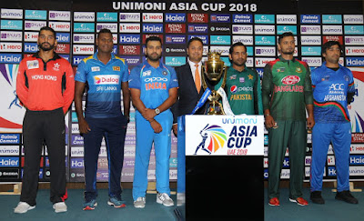 Captains pose with Asia Cup Trophy