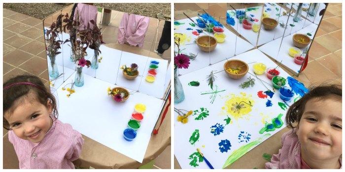 manualidades, diy, crafts, actividades infantiles primavera motricidad fina pintar estampar flores