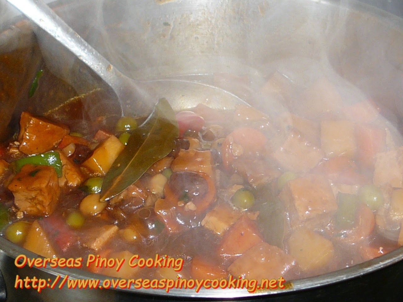 Vegetarian Menudo, Tofu Menudo - Cooking Procedure