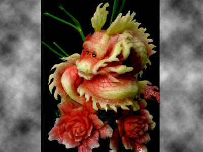 watermelon dragon fruit art design