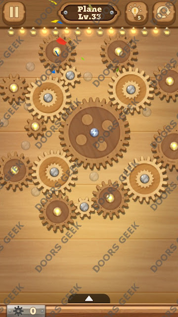 Fix it: Gear Puzzle [Plane] Level 33 Solution, Cheats, Walkthrough for Android, iPhone, iPad and iPod