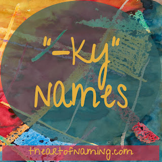 boy and girl names ending with ky - the kee or key sound - kie