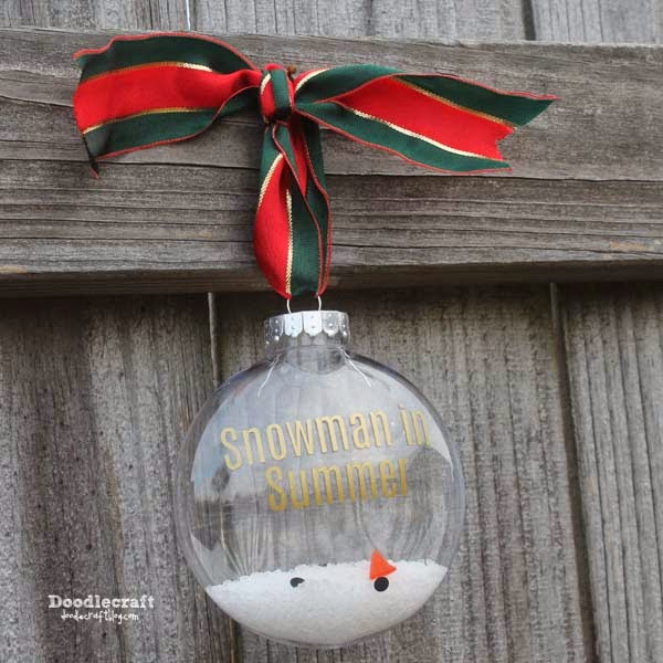 Melted snowman Olaf from Frozen, snowman in Summer, Christmas tree ornament craft