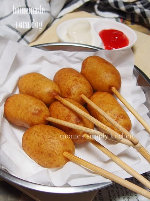 homemade corn dog