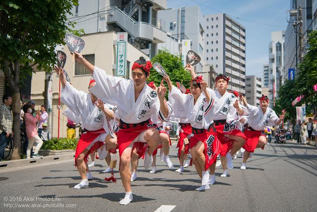 マロニエ祭りで浅草雷連の男踊りの踊り手達を撮影した写真 その5