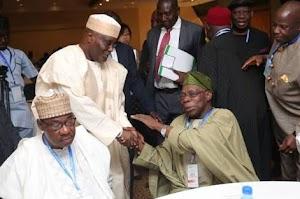 SEE PHOTOS: Obasanjo, Atiku Meet In Abuja