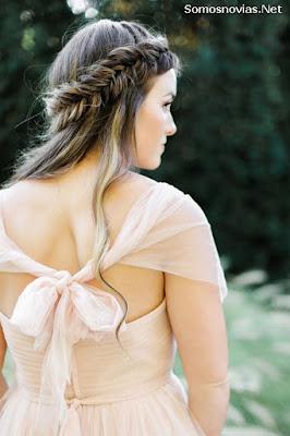 Peinados de Novia con Cabello Suelto