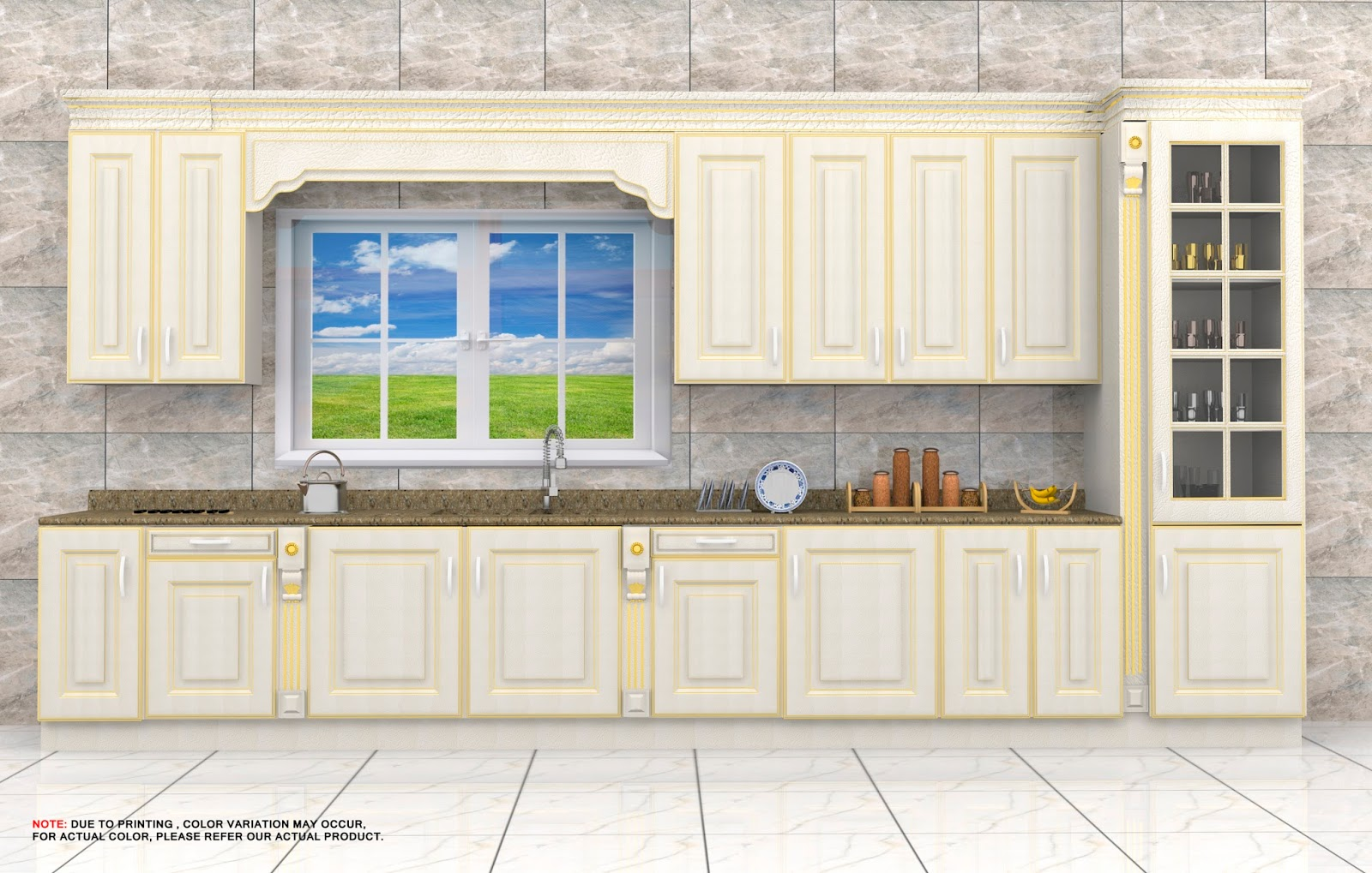 qdesignfactory: classic golden and crack kitchen design