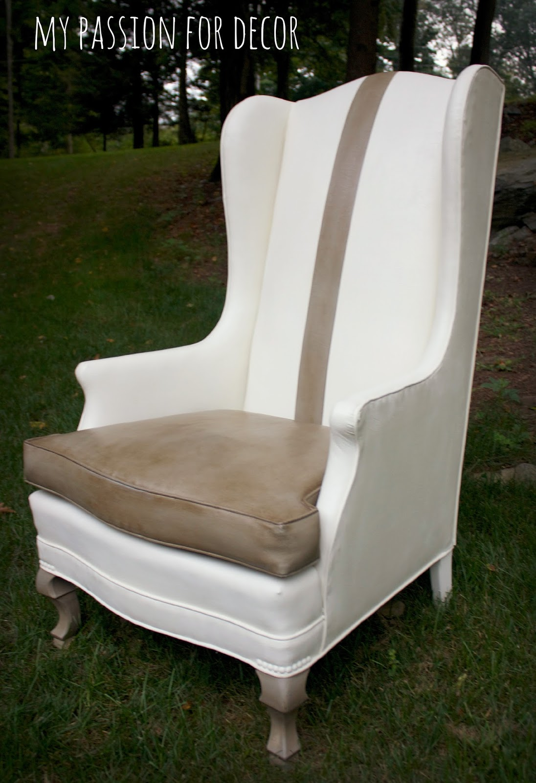 recovering chair cushions vinyl repair seat webbing my passion for decor a much needed update an old