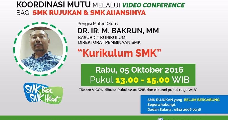 Dokumentasi Vicon Materi Kurikulum Smk Komunitas Smk Kabupaten Grobogan