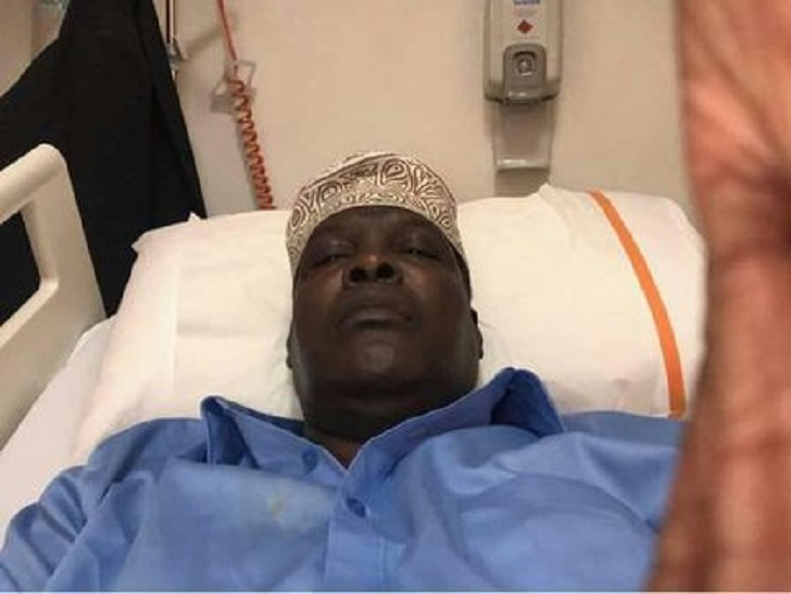 Miguna Miguna undergoing medical check-up in Dubai