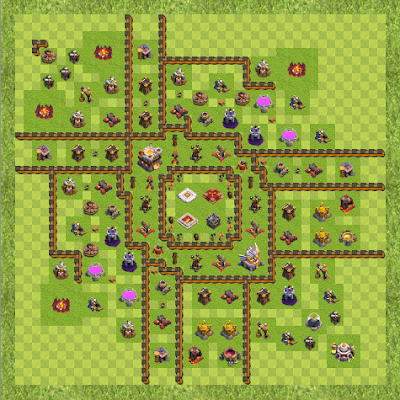 War Base Town Hall Level 11 By Alvero4ever (Anti 3 star TH 11 Layout)