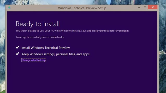 install Windows 10 Technical Preview Now
