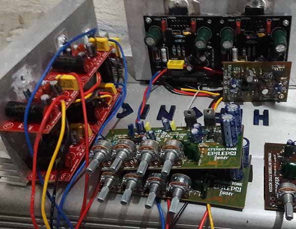 Diy home theater with gainclone power amplifier electronic