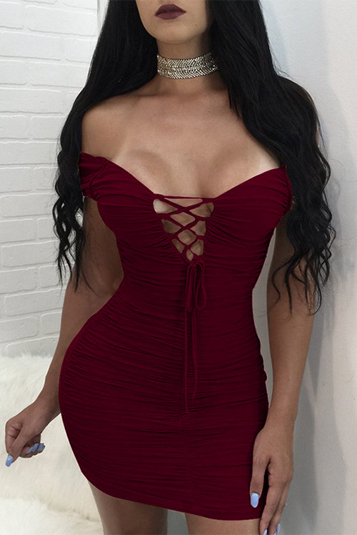 Yoins red dress
